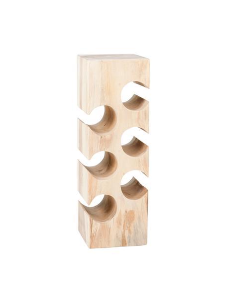 Botellero de madera de acacia Wine, para hasta 6 botellas, Madera de acacia, Marrón, An 21 x Al 60 cm