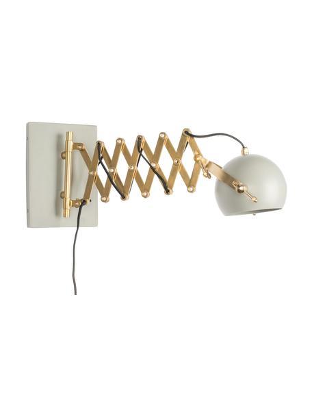 Wandleuchte Sarana mit Stecker, Lampenschirm: Metall, pulverbeschichtet, Gestell: Metall, Goldfarben, Hellgrau, 17 x 26 cm