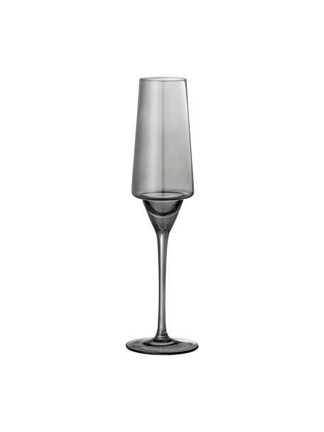 Flute champagne grigio Yvette 4 pz, Vetro, Grigio, Ø 10 x Alt. 23 cm