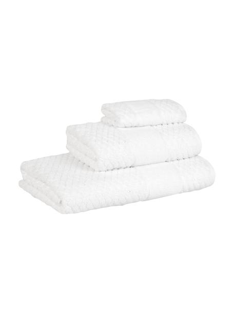Set de toallas texturizada Katharina, 3pzas., Blanco, Set de diferentes tamaños