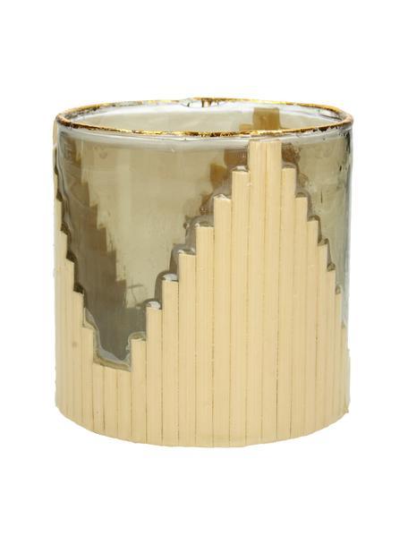 Teelichthalter Bixbite, Glas, Beigetöne, Goldfarben, Ø 10 x H 11 cm