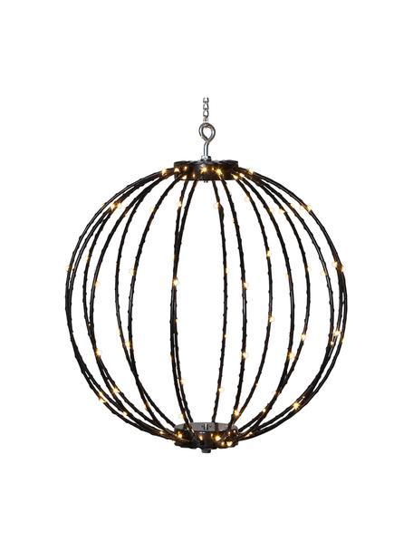 Lámpara colgante para exterior Mounty, con enchufe, Pantalla: plástico, Cable: plástico, Negro, Ø 30 cm