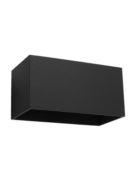 Aplique Geo Maxi, Pantalla: aluminio, Negro, An 20 x Al 10 cm