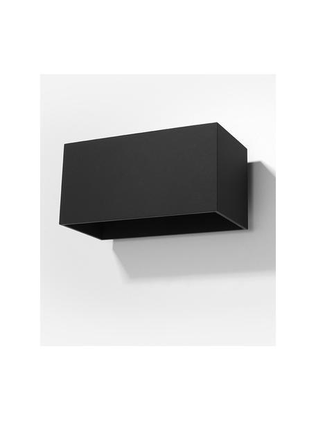 Applique nera Geo Maxi, Paralume: alluminio, Nero, Larg. 20 x Alt. 10 cm