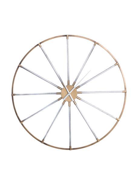 Reloj de pared Drais, Metal, Dorado, plateado, Ø 90 cm