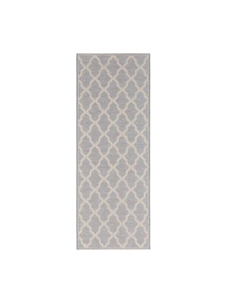 Passatoia da interno-esterno Heaven, Grigio argento, crema, Larg. 76 x Lung. 200 cm