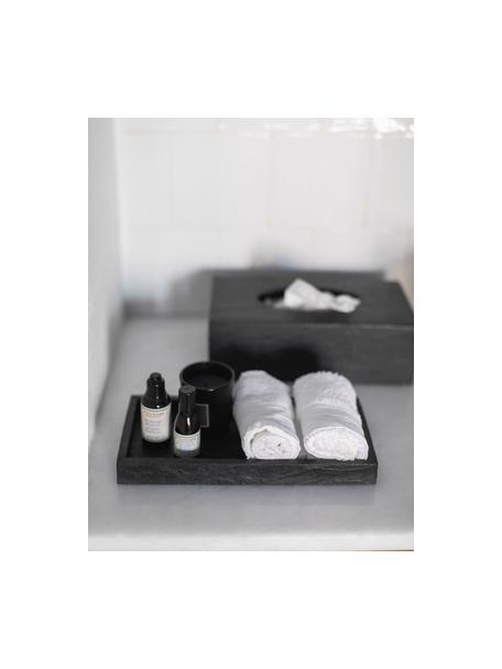 Dienblad Slate, 15% polyresin, 35% acryl, 25% polyester, 25% kwartszandvulling, Zwart, 26 x 3 cm