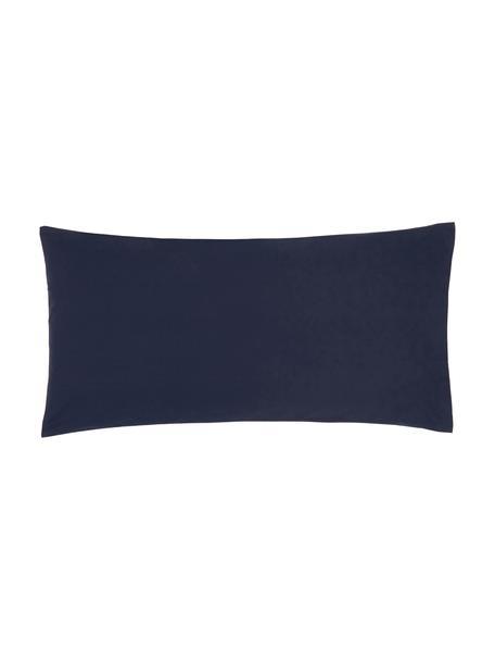 Poszewka na poduszkę z perkalu Elsie, 2 szt., Ciemny niebieski, S 40 x D 80 cm