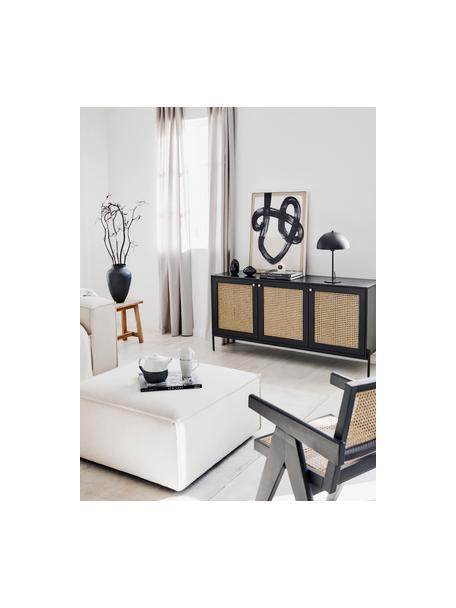 Lámpara de mesa de metal Matilda, Pantalla: metal con pintura en polv, Cable: tela, Negro, Ø 29 x Al 45 cm