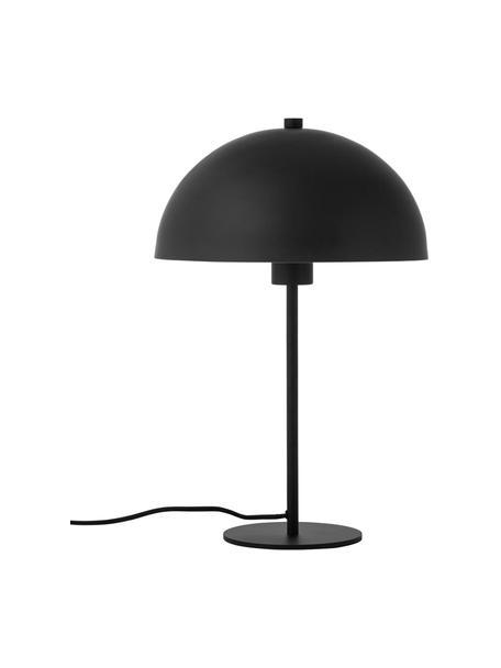 Lampa stołowa z metalu Matilda, Czarny, Ø 29 x W 45 cm