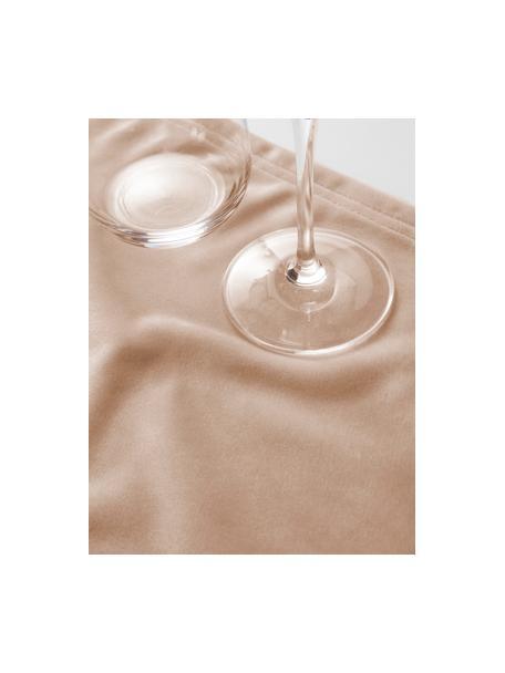 Samt-Tischsets Simone in Beige, 2 Stück, 100% Polyestersamt, Beige, 35 x 45 cm