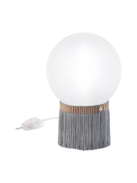 Kleine Dimmbare Tischlampe Atmosfera Fringe, Lampenschirm: Methacrylate, Opalflex, Grau, Weiss, 20 x 30 cm