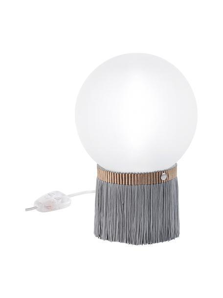 Lámpara de mesa regulable pequeña Atmosfera Fringe, Pantalla: metacrilato, Opalflex, Cable: plástico, Gris, blanco, An 20 x Al 30 cm