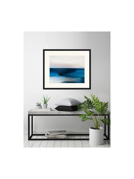 Impresión digital enmarcada Blue And Grey Abstract Art, Multicolor, An 63 x Al 53 cm