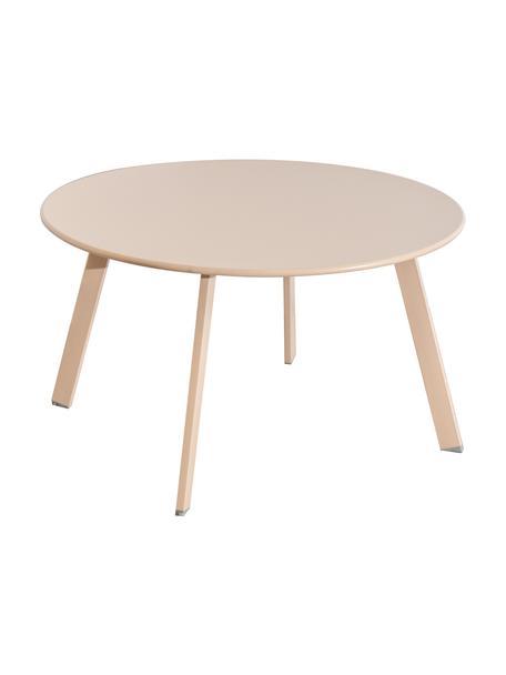 Ogrodowy stolik pomocniczy Marzia, Stal epoksydowana, Beżowy, Ø 70 x W 40 cm