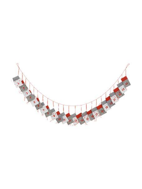 Kalendarz adwentowy Bagga, Filc, Czerwony, szary, biały, S 9 x W 14 cm