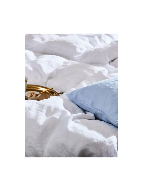 Poszewka na poduszkę z lnu z efektem sprania Nature, 2 szt., Biały, S 40 x D 80 cm