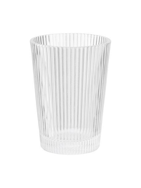 Bicchiere acqua Pilastro 6 pz, Vetro, Trasparente, Ø 8 x Alt. 11 cm