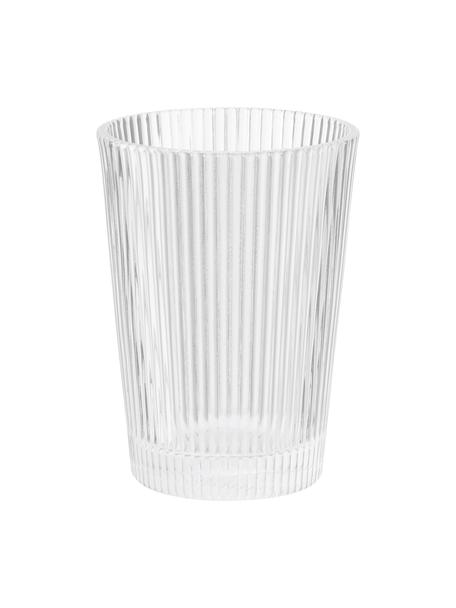 Waterglazen Pilastro met groefreliëf, 6 stuks, Glas, Transparant, Ø 8 x H 11 cm