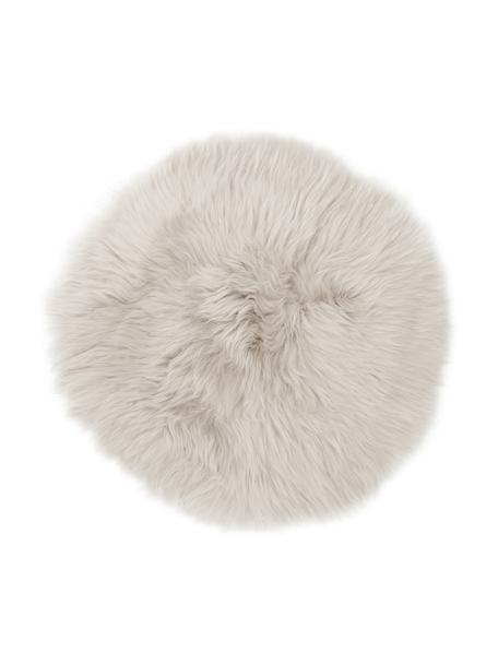 Nakładka na siedzisko ze skóry owczej Oslo, gładka, Beżowy, Ø 37 cm
