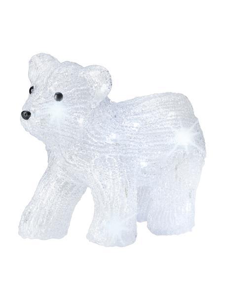 Dekoracja świetlna LED zasilana na baterie Bear, Tworzywo sztuczne, Transparentny, czarny, S 29 x W 24 cm