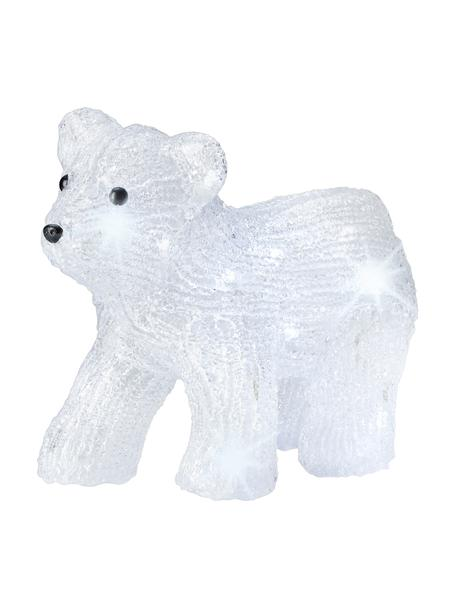 Figura luminosa LED Bear, funciona a pilas, Plástico, Transparente, negro, An 29 x Al 24 cm