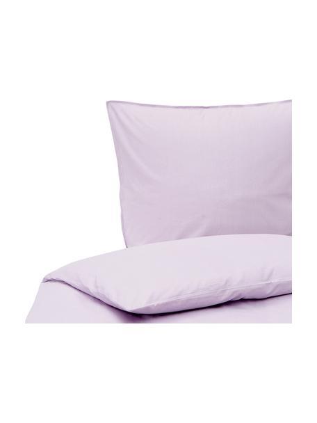 Pościel z bawełny Arlene, Lila, 135 x 200 cm + 1 poduszki 80 x 80 cm