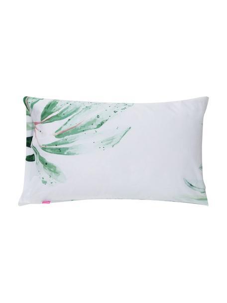 Fundas de almohada Delicate, 2uds., 50x75cm, 100%algodón El algodón da una sensación agradable y suave en la piel, absorbe bien la humedad y es adecuado para personas alérgicas, Blanco, verde, An 50 x L 75 cm