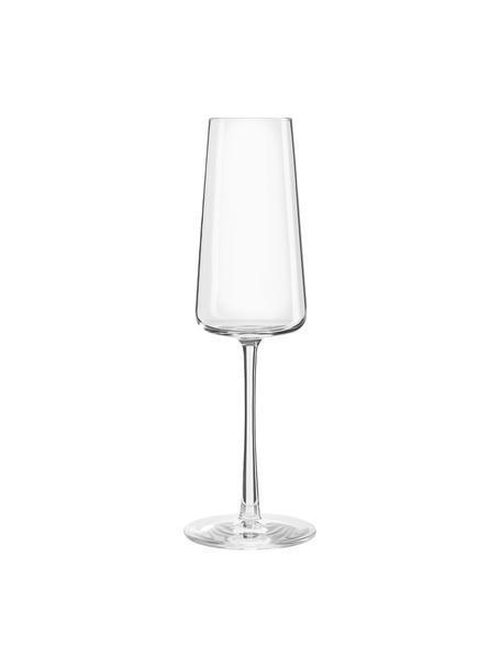 Champagneglazen Power in kegelvorm, 6 stuks, Kristalglas, Transparant, Ø 7 x H 23 cm