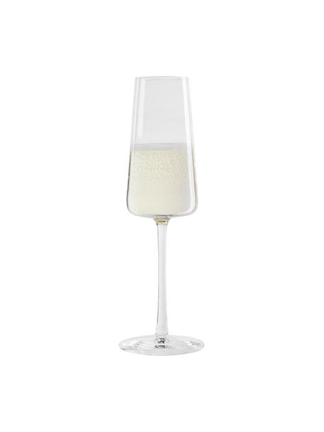 Flute champagne in cristallo a forma di cono Power 6 pz, Cristallo, Trasparente, Ø 7 x Alt. 23 cm