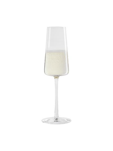 Kristall-Sektgläser Power in Kegelform, 6 Stück, Kristallglas, Transparent, Ø 7 x H 23 cm
