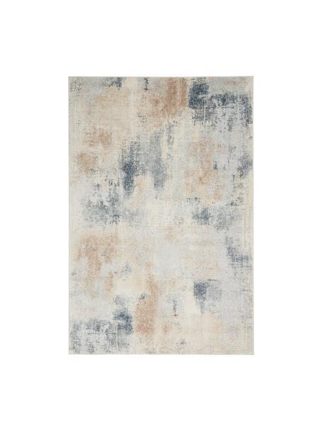 Tappeto di design beige/grigio Rustic Textures II, Retro: 50%juta, 50%Latex, Tonalità beige, grigio, Larg. 120 x Lung. 180 cm (taglia S)