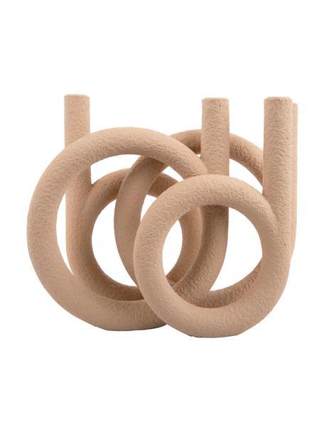 Kerzenhalter Ring, Kunststoff, Beige, 38 x 30 cm