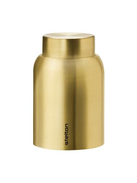 Vacuüm flessendop Collar, goudkleurig, Vermessingd edelstaal, Messingkleurig, Ø 4 x H 6 cm