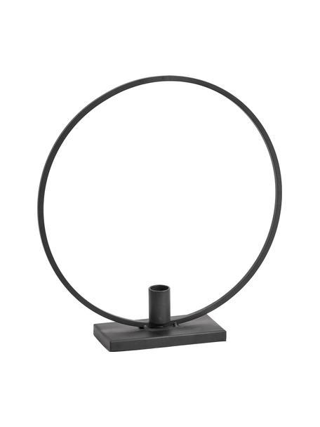 Kerzenhalter Agell, Metall, beschichtet, Schwarz, 29 x 31 cm