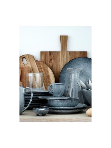 Ręcznie wykonana miska z kamionki Nordic Sea, 4szt., Kamionka, Odcienie szarego, odcienie niebieskiego, Ø 8 x W 4 cm