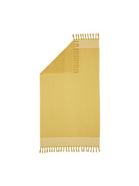 Fouta Freddy, Żółty, S 100 x D 180 cm