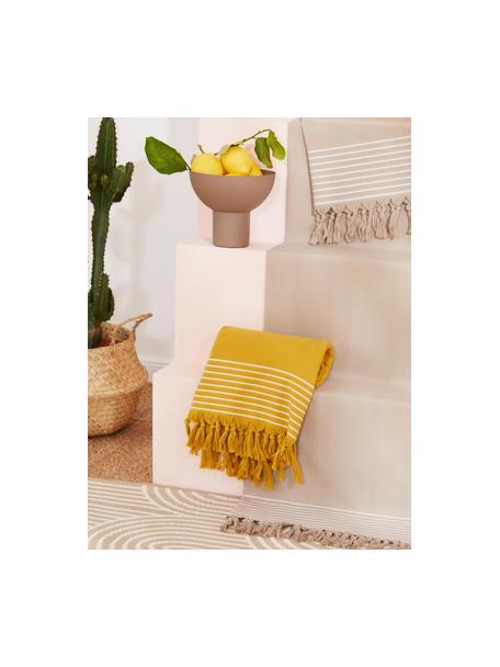 Ręcznik plażowy Freddy, Żółty, S 100 x D 180 cm