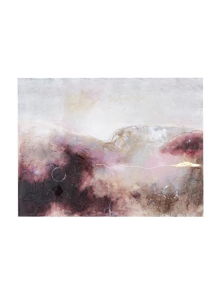 Ręcznie malowany obraz na płótnie Turning Red, Wielobarwny, S 120 x W 90 cm