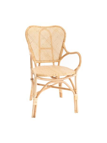 Krzesło ogrodowe z rattanu Xyli, Stelaż: rattan, Beżowy, S 62 x G 53 cm