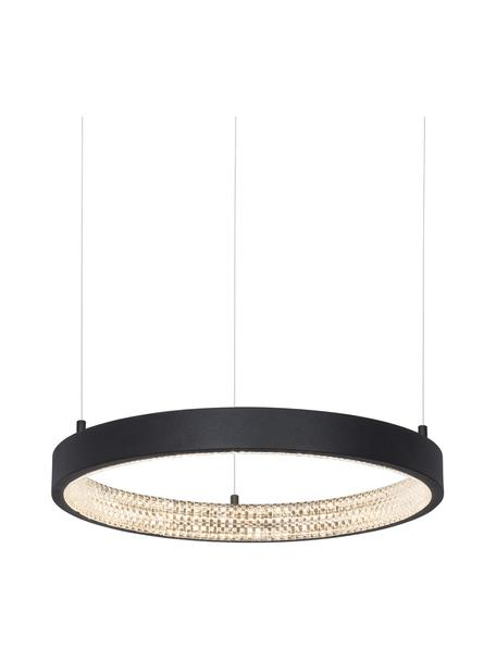 Lampada a sospensione dimmerabile a LED Preston, Paralume: alluminio rivestito, Baldacchino: alluminio rivestito, Nero, Ø 40 x Alt. 120 cm