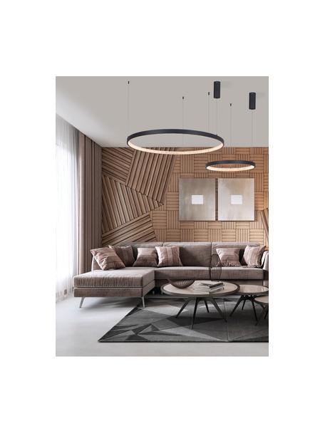 Lámpara de techo regulable LED Preston, Pantalla: aluminio recubierto, Anclaje: aluminio recubierto, Cable: plástico, Negro, Ø 40 x Al 120 cm