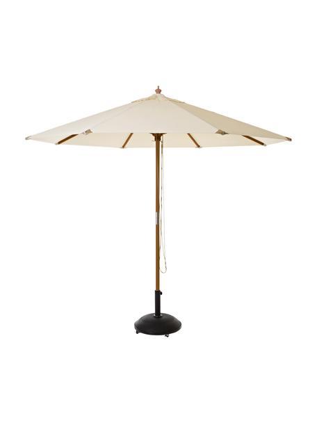 Ronde parasol Capri in beige, Ø 300 cm, Gebroken wit, Ø 300 x H 265 cm
