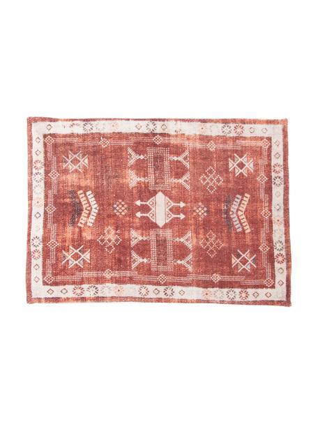 Tovaglietta americana etnica in cotone Tanger, 100% cotone, Rosso, beige, Larg. 35 x Lung. 50 cm