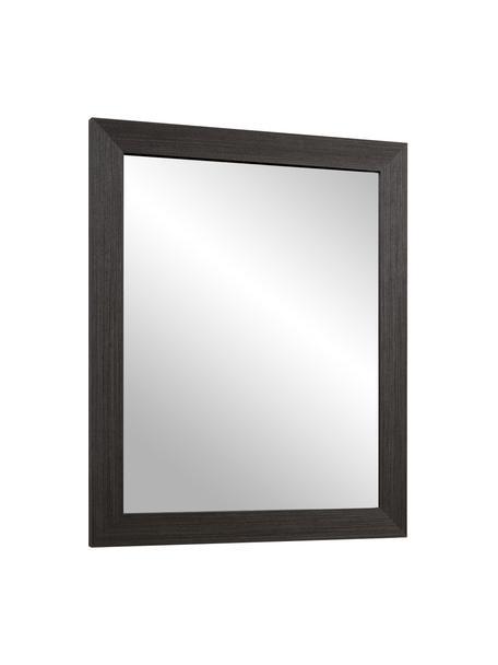 Specchio da parete con cornice in legno Wilany, Cornice: legno, Superficie dello specchio: lastra di vetro, Antracite, Larg. 47 x Alt. 58 cm