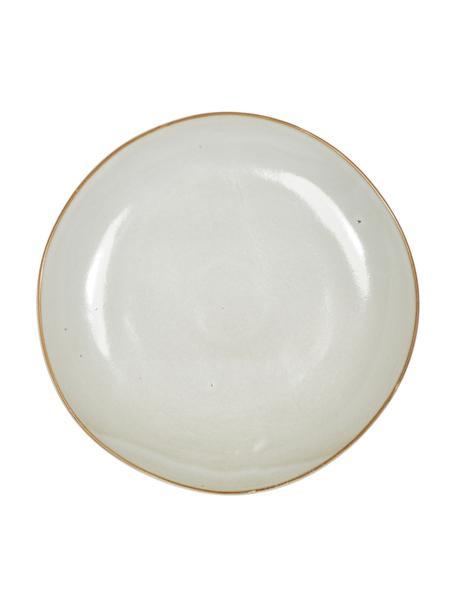 Handgemaakte keramische dinerborden Thalia in beige, 2 stuks, Keramiek, Beige, Ø 27 cm