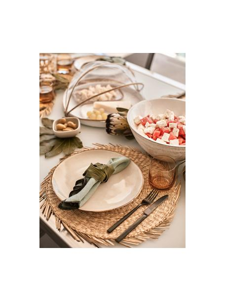 Set van 2 handgemaakte keramische dinerborden Thalia in beige, Keramiek, Beige, Ø 27 cm