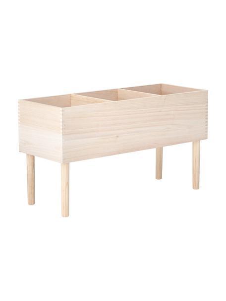 Estantería Douve, Madera de Paulownia, madera contrachapada, Beige, An 91 x Al 50 cm