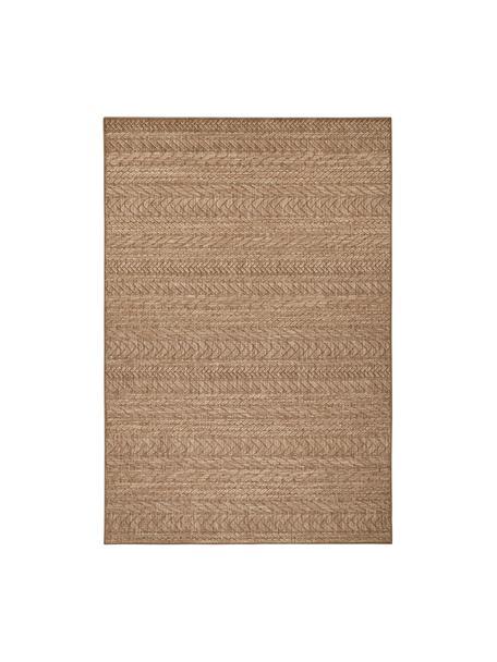 In- & outdoor vloerkleed Granado, jute-look, 100% polypropyleen, Beige, bruin, B 80 x L 150 cm (maat XS)
