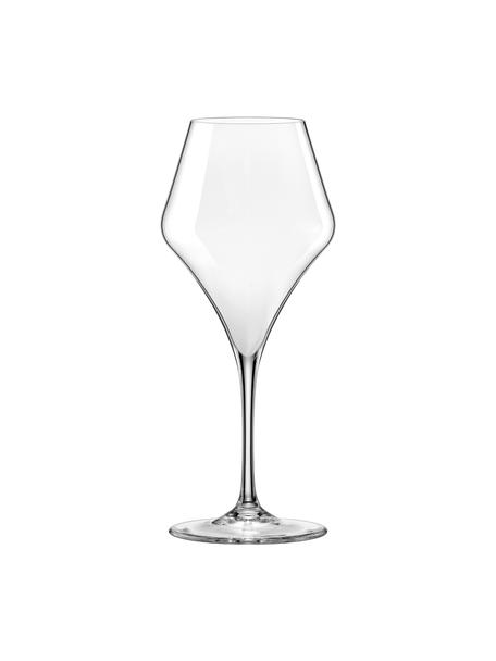 Bolvormige rode wijnglazen Aram, 6 stuks, Glas, Transparant, Ø 10 x H 24 cm